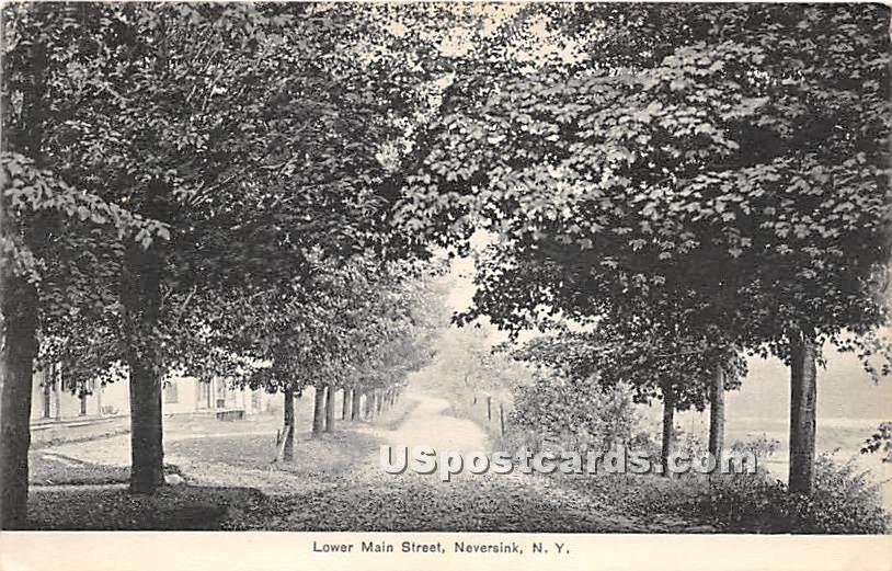 Lower Main Street - Neversink, New York NY Postcard