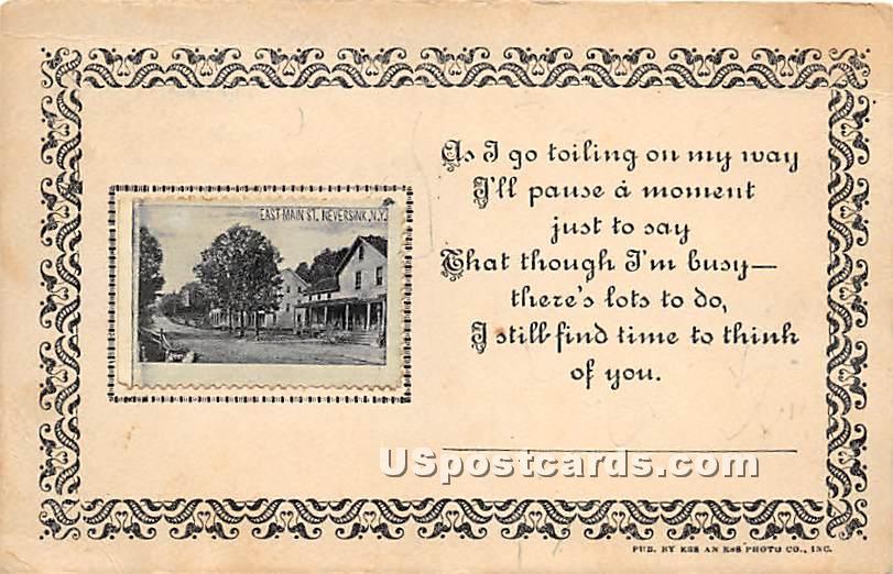 East Main Street - Neversink, New York NY Postcard
