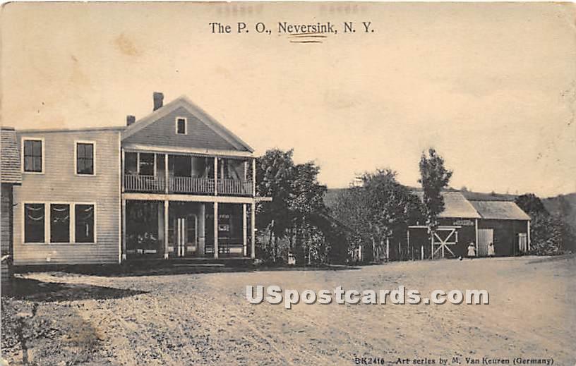 Post Office - Neversink, New York NY Postcard