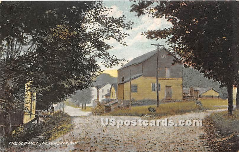 The Old Mill - Neversink, New York NY Postcard