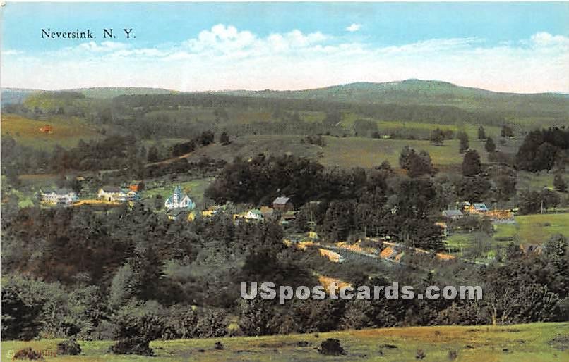 Birds Eye View - Neversink, New York NY Postcard