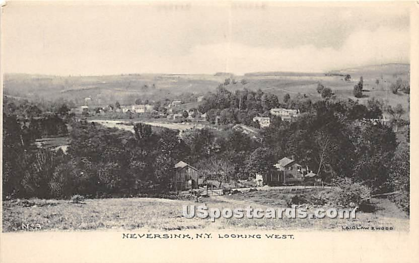 Looking West - Neversink, New York NY Postcard