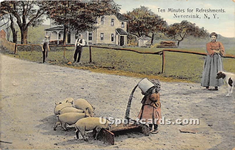 Ten Minutes for Refreshments - Neversink, New York NY Postcard