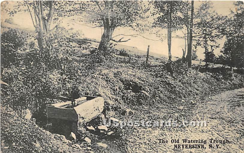 The Old Watering Trough - Neversink, New York NY Postcard