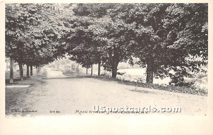 Main Street - Neversink, New York NY Postcard
