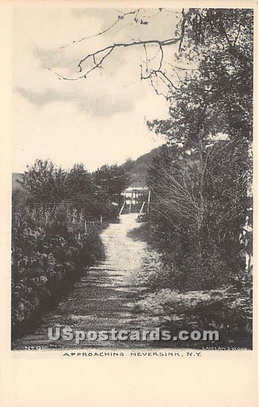 Approaching - Neversink, New York NY Postcard