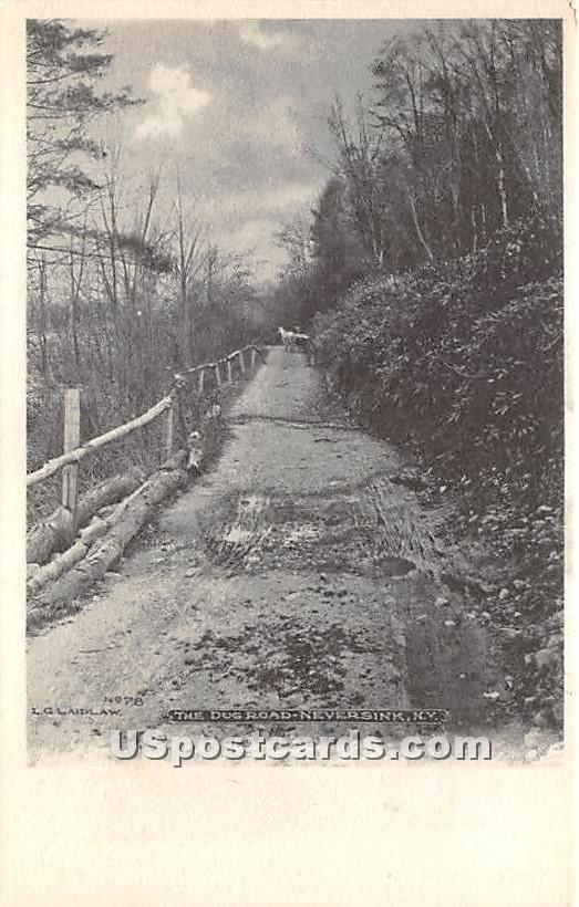 The Dug Road - Neversink, New York NY Postcard