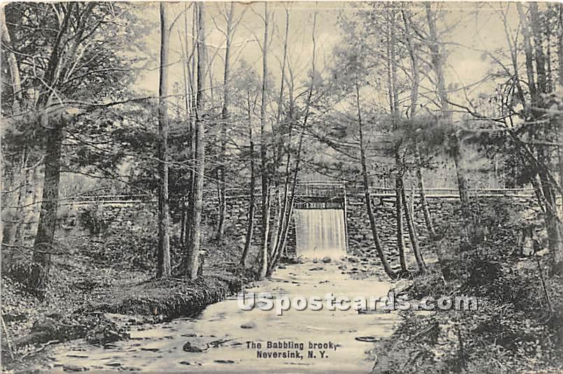 Babbling Brook - Neversink, New York NY Postcard