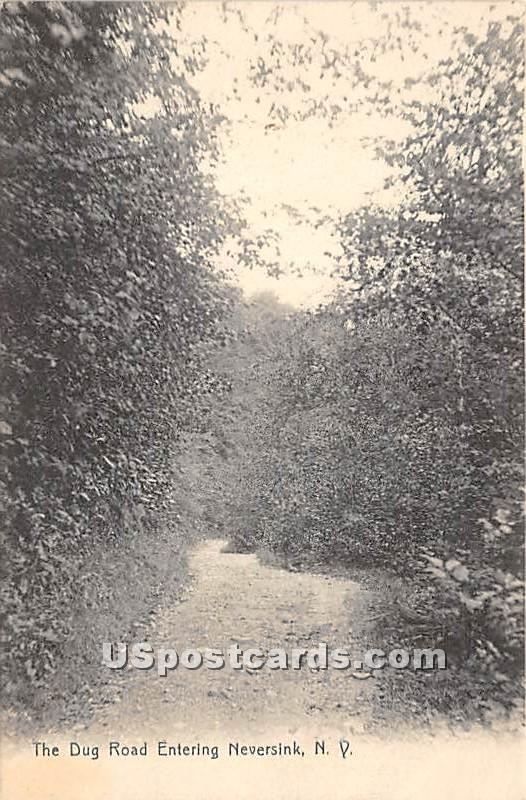 Dug Road Entering - Neversink, New York NY Postcard