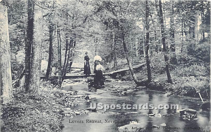 Lovers Retreat - Neversink, New York NY Postcard