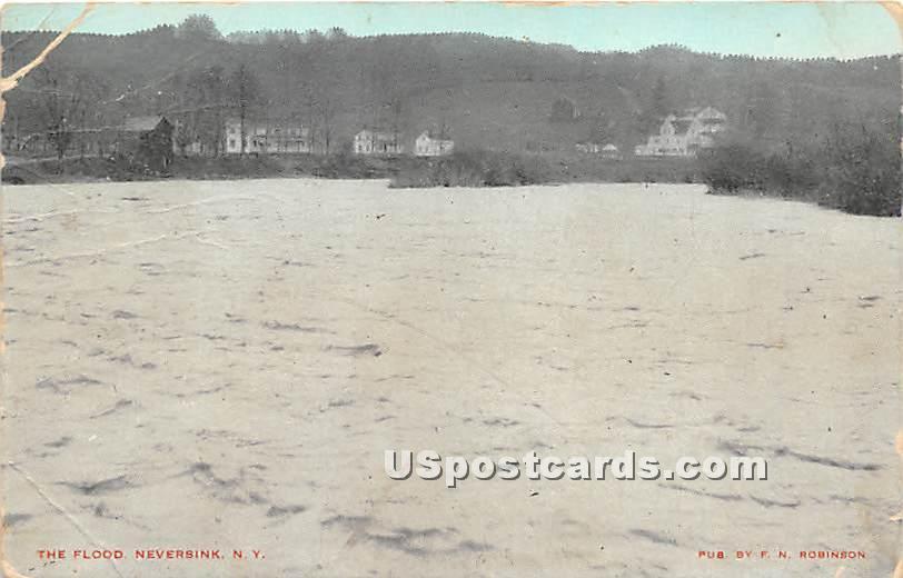 The Flood - Neversink, New York NY Postcard