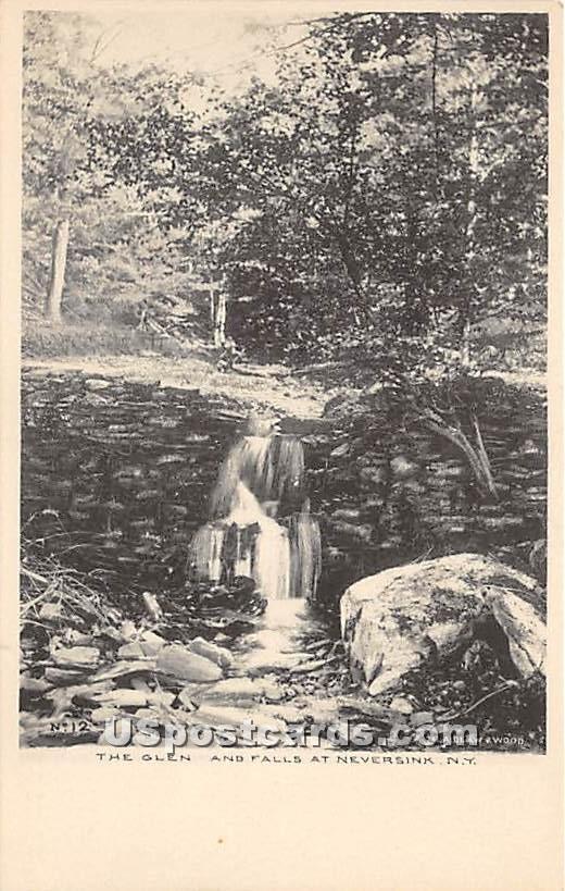 The Glen and Falls - Neversink, New York NY Postcard