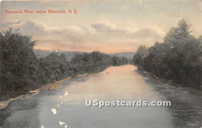 Neversink River - New York NY Postcard