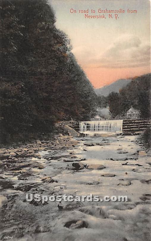 On Road to Grahamsville - Neversink, New York NY Postcard