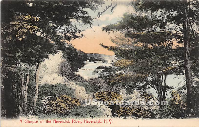 Glimpse of the Neversink River - New York NY Postcard