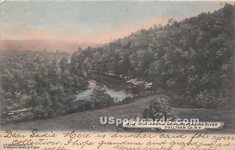 Whittaker's Bend - Neversink, New York NY Postcard