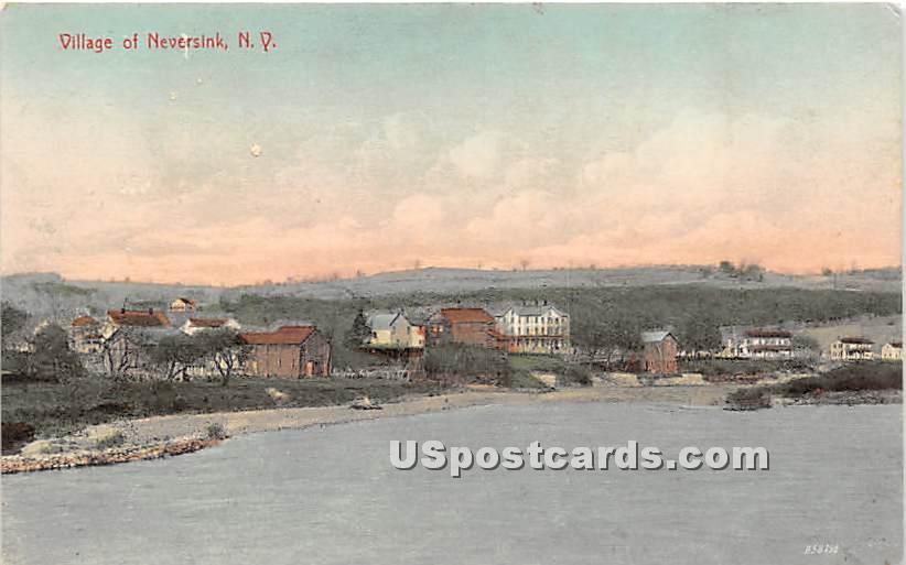 Neversink Village - New York NY Postcard