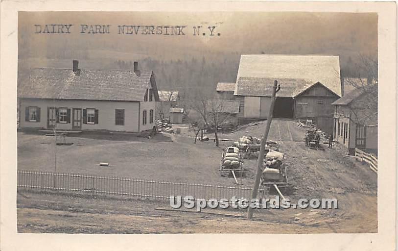 Dairy Farm - Neversink, New York NY Postcard