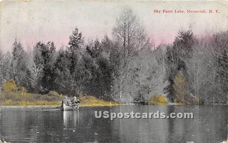 Sky Farm Lake - Neversink, New York NY Postcard