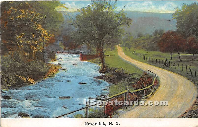 Water View - Neversink, New York NY Postcard