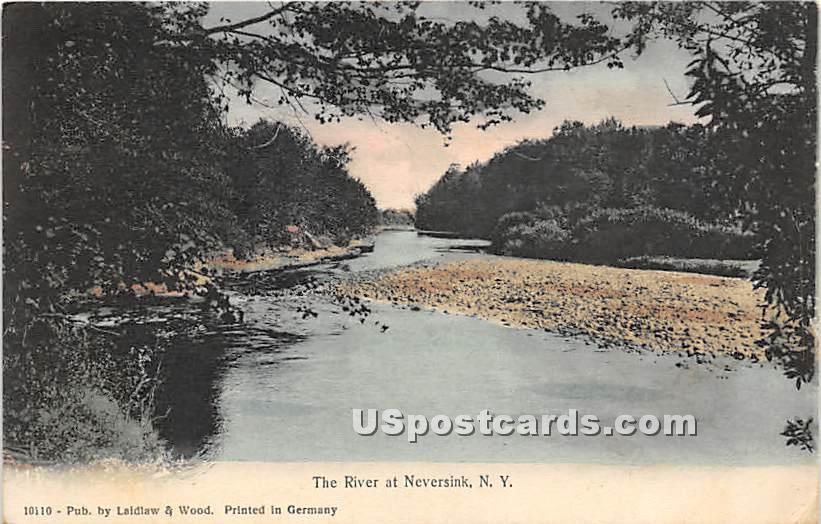 The River - Neversink, New York NY Postcard