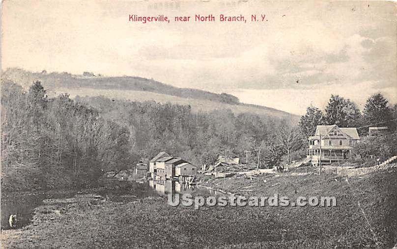 Klingerville - North Branch, New York NY Postcard