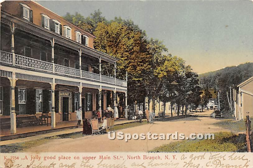 Jolly good place on Upper Main Street - North Branch, New York NY Postcard