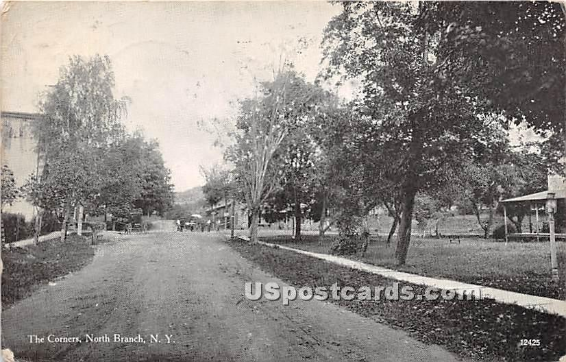 The Corners - North Branch, New York NY Postcard