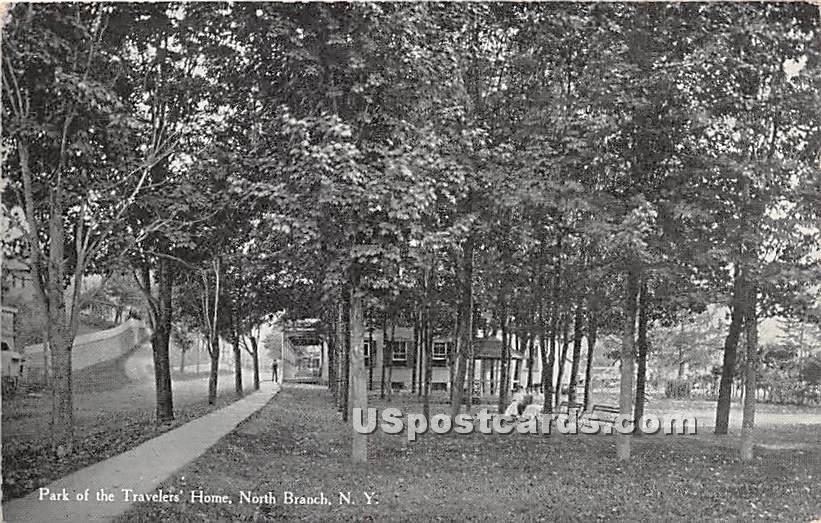 Park of the Travelers Home - North Branch, New York NY Postcard