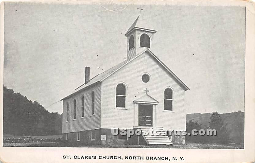 St Clare's Church - North Branch, New York NY Postcard