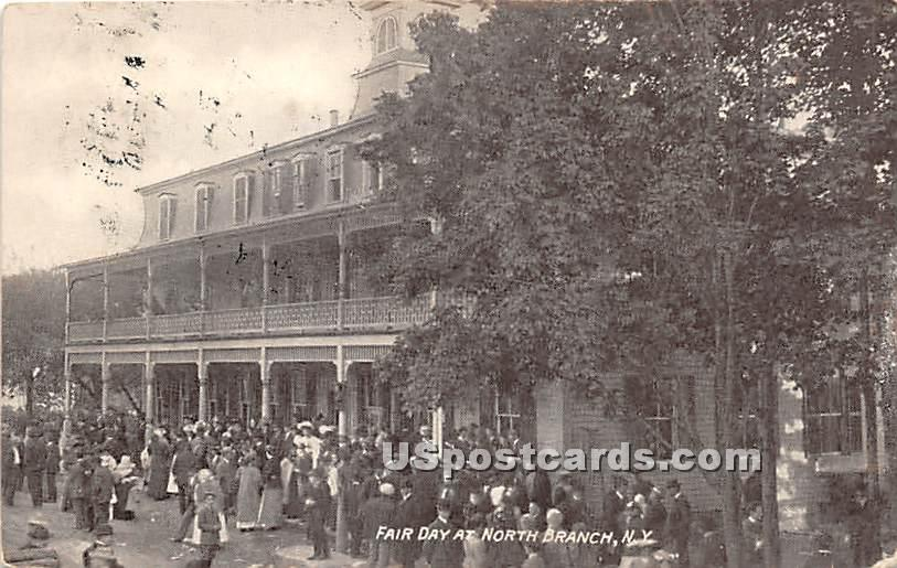 Fair Day - North Branch, New York NY Postcard