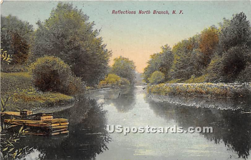 Reflections - North Branch, New York NY Postcard
