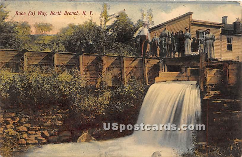 Race a Way - North Branch, New York NY Postcard