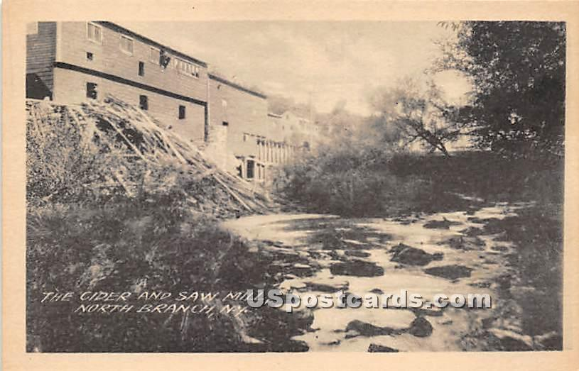 Cider and Saw Mill - North Branch, New York NY Postcard