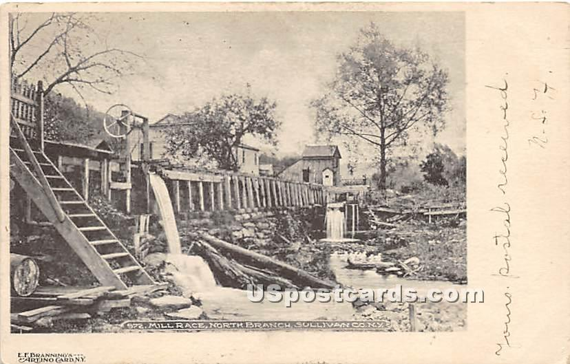 Mill Race - North Branch, New York NY Postcard