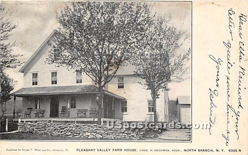 Pleasant Valley Farm House - North Branch, New York NY Postcard
