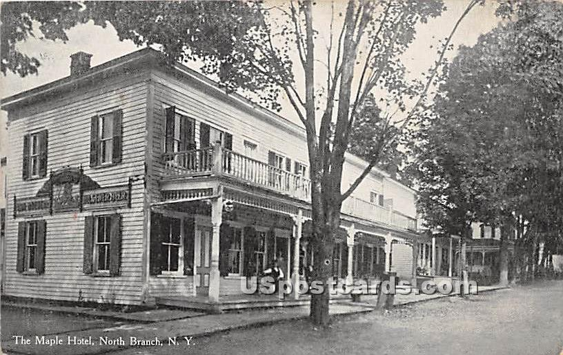 The Maple Hotel - North Branch, New York NY Postcard