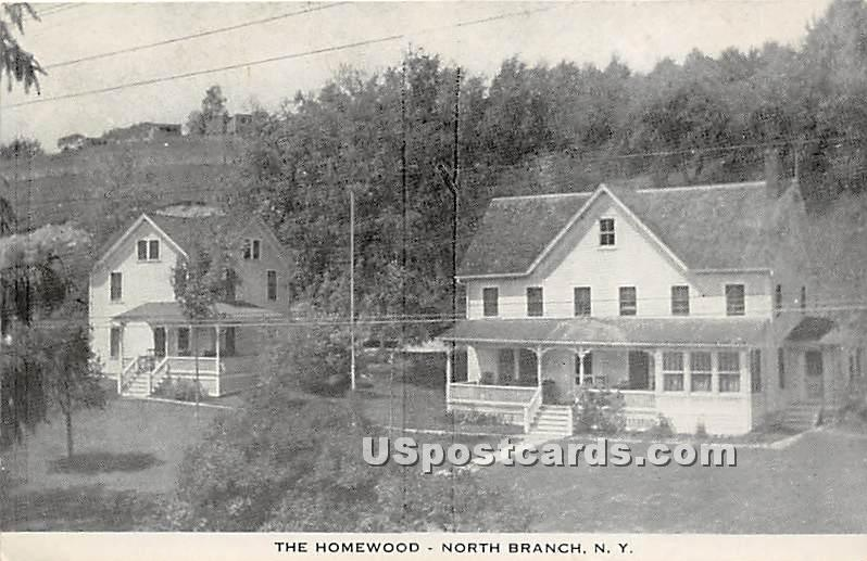 The Homewood - North Branch, New York NY Postcard