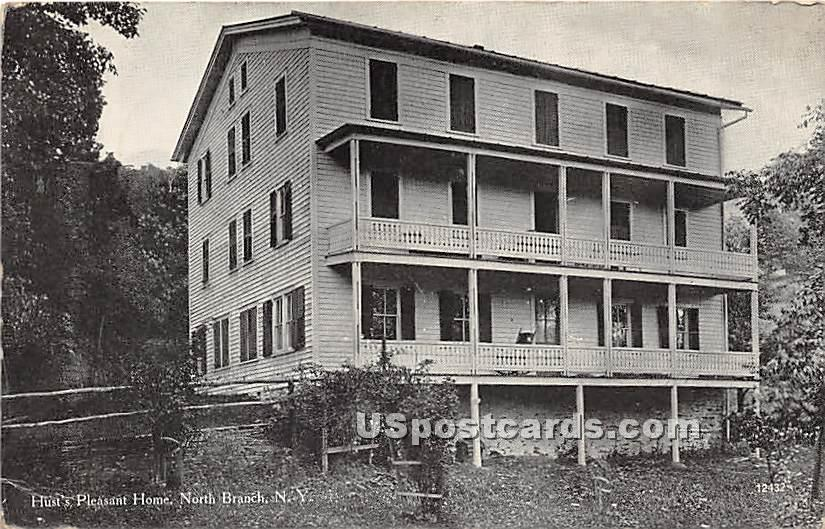 Hust's Pleasant Home - North Branch, New York NY Postcard