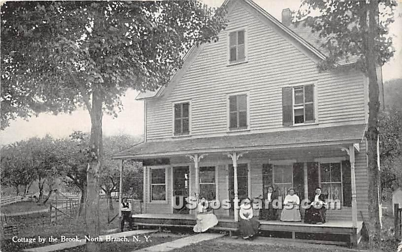 Cottage by the Brook - North Branch, New York NY Postcard