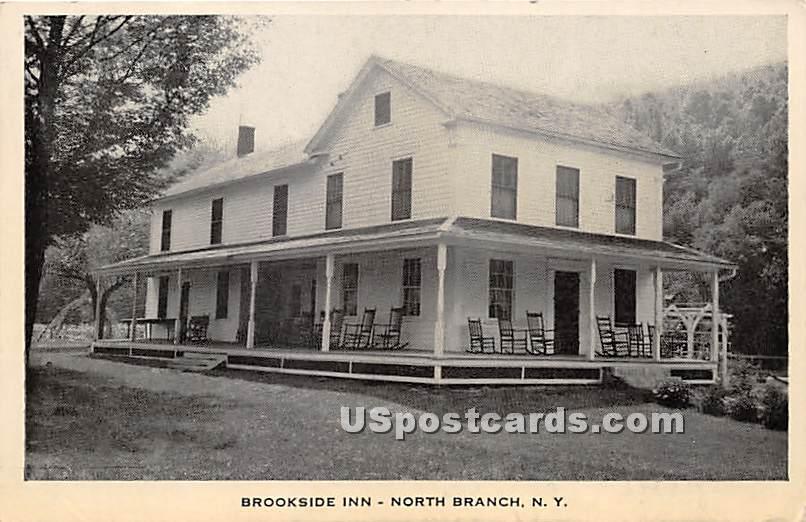Brookside Inn - North Branch, New York NY Postcard