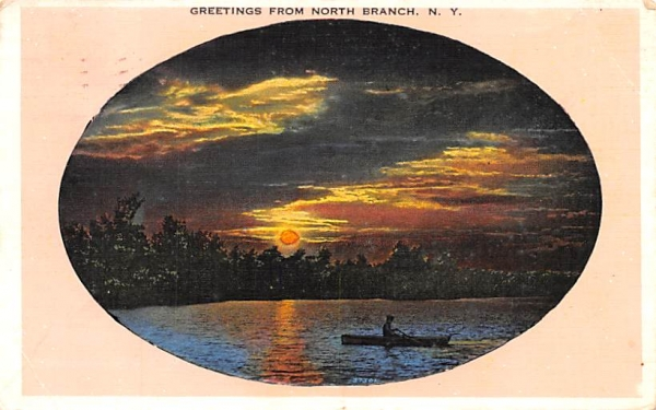 Greetings From North Branch, New York Postcard
