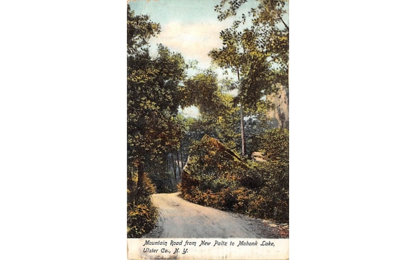 Mountain Road New Paltz, New York Postcard