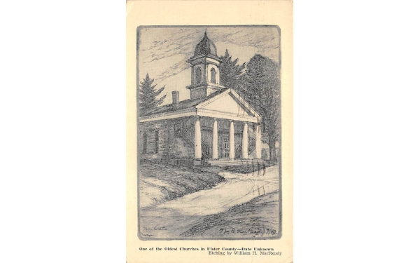 Old Church in Ulster County New Paltz, New York Postcard
