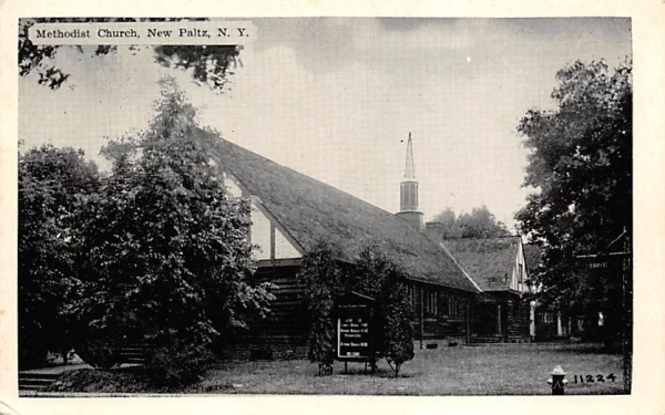 Methodist Church New Paltz, New York Postcard