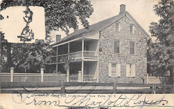 1705 House New Paltz, New York Postcard
