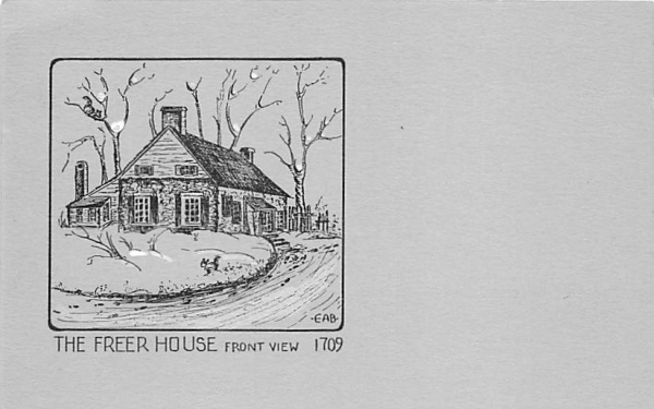 Freer House New Paltz, New York Postcard