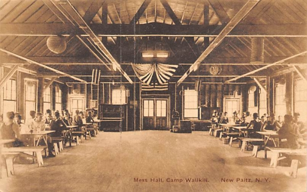 Mess Hall Camp Wallkill New Paltz, New York Postcard