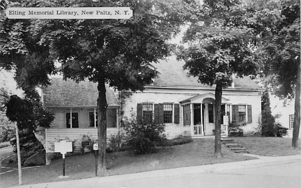 Elting Memorial Library New Paltz, New York Postcard