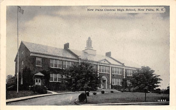 Central High School New Paltz, New York Postcard